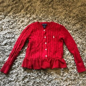 USED! POLO Ralph Lauren Girls Red sweater 5T